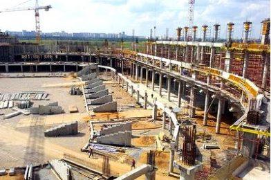 Монолитное строительство стадиона