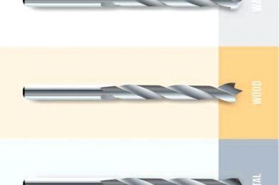 Выбор правильного сверла для металла, дерева, плитки, стекла или кирпичной кладки